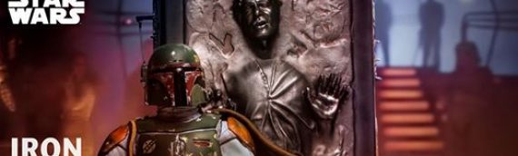 IRON STUDIOS – Boba Fett & Han Solo in carbonite Deluxe Art Scale 1/10
