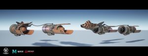 Remake Star Wars Racer - les pods