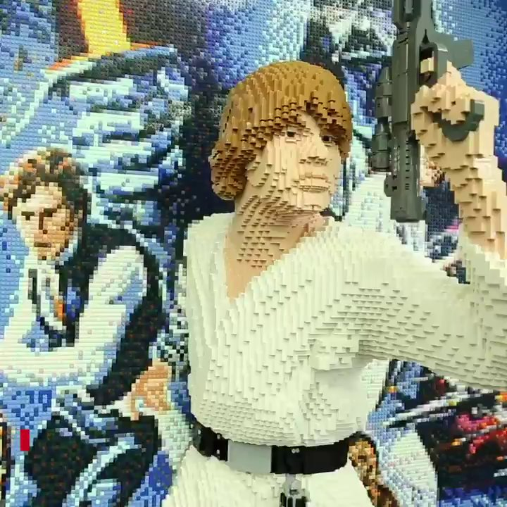 Luke 3D A New Hope Poster
