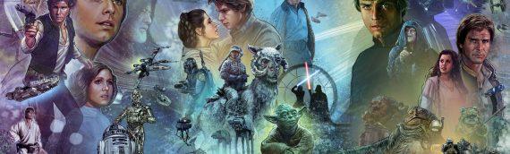 La fresque retraçant la saga Star Wars par Jason Palmer exposé à Star Wars Celebration