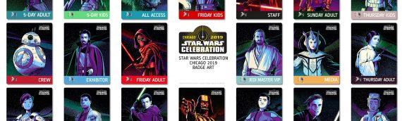 Star Wars Celebration Chicago – Le visuel de tous les badges