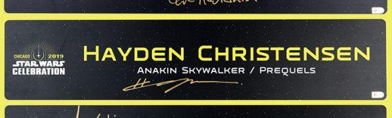 Star Wars Authentics – Plaque métallique et Banners de Star Wars Celebration aux enchères