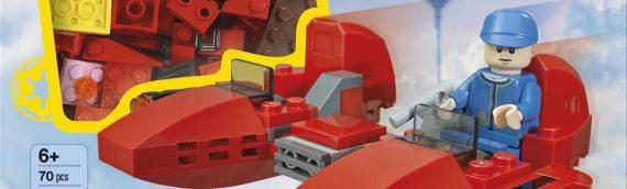Nouveau livre Lego en perspective avec un modèle à construire particulièrement intéressant