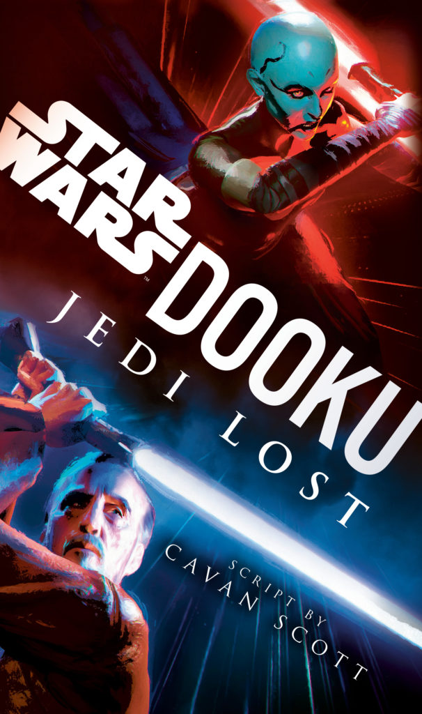 Dooku Jedi Lost - couverture du roman en version écrite