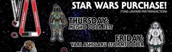 Tamashiii Nation – Des pins Star Wars Exclusifs pour le SDCC