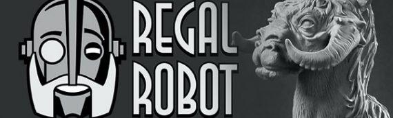 Regal Robot et sa réplique de la sculpture originale du Tauntaun en 250ex