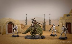 SW Legion Dewback en action