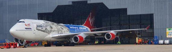 Virgin Atlantic  – Un de leur Boeing au couleur du Faucon Millenium