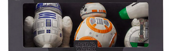 DISNEY STORE : 3-pack des peluches droids The Rise of Skywalker