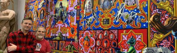 Rancho Obiwan – La fresque géante de R.Burden confiée à S.Sansweet
