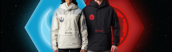 COLUMBIA – Nouvelles vestes Star Wars Dark & Light Side