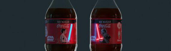 COCA-COLA : Des bouteilles Star Wars avec light-up en exclu à Singapour