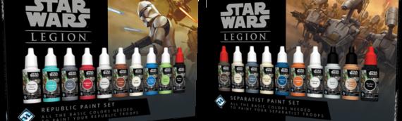 Fantasy Flight Games / Legion : Set de couleurs pour vos clones ou votre armée séparatiste