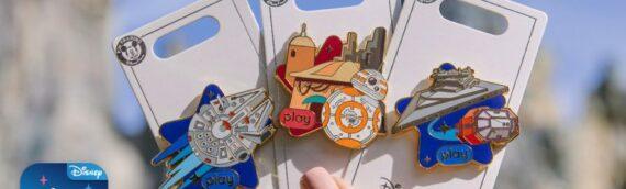 """Disney Parks : 3 nouveaux Pin's """"Play"""""""