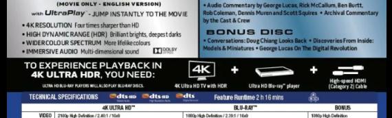 Rééditions des films en 4K UltraHD: Les bonus dévoilés