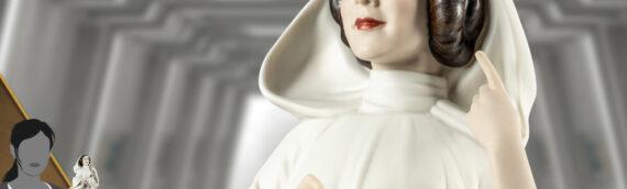 LLADRO : Un belle statuette de la Princesse Leïa en porcelaine