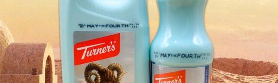 Turner's : Production le lait bleu juste pour le May the 4th.