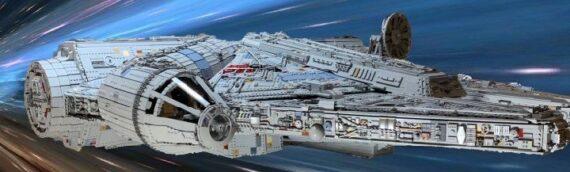 LEGO MOC – Un énorme Faucon Millenium de 50000 pièces