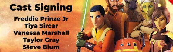 Star Wars Autograph Universe : Toute l'équipe du Ghost  en dédicace