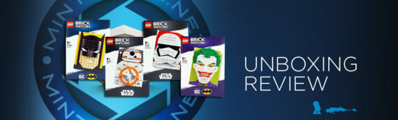 [Mintinbox Open the Box] LEGO Brick Sketches Batman, The Joker, Stormtrooper & BB-8