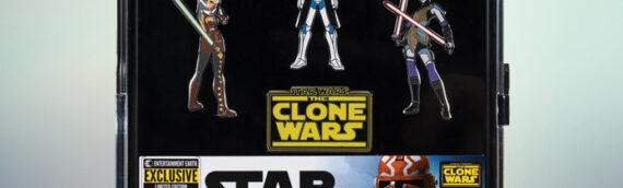 "Entertainment Earth – SDCC2020 : Set de Pin's ""The Clone Wars"""