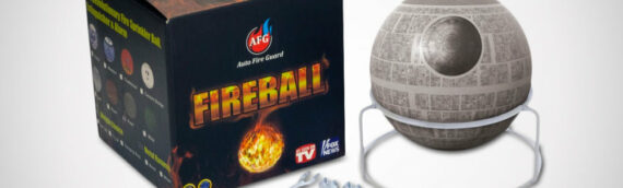 Une boule extincteur aux couleurs de la Death Star