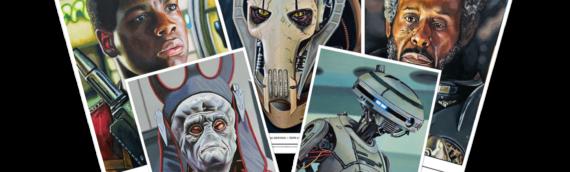 Topps Star wars Living Set – Artprint : Finn, Grievous, Saw, Nute et L3 pour cette nouvelle semaine