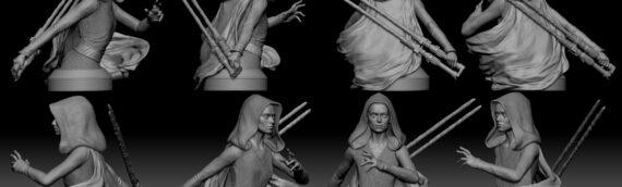Gentle Giant – Le Mini-Buste de Dark Rey se dévoile un peu plus