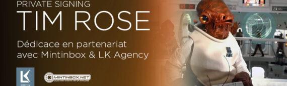 PRIVATE SIGNING – L'admiral Ackbar (Tim Rose) en dédicace en partenariat avec Mintinbox & LK Agency