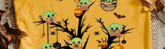 Tee-Shirt – Baby Yoda se déguise pour Halloween
