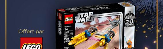 CONCOURS – Calendrier de l'avent : Jour 2 – Set Lego 75258 POD RACER ANAKIN