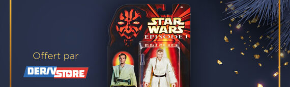 CONCOURS – Calendrier de l'avent : Jour 4 – La figurine Black series d'Obi-Wan Kenobi, 20th The Phantom Menace offerte par la boutique Deriv Store