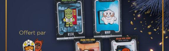 CONCOURS – Calendrier de l'avent : Jour 5 – Un lot de 4 Pin's offert par FabDums