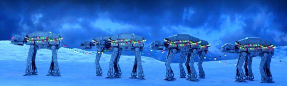 LEGO – Une nouvelle vidéo de Noël quand les AT-AT se prennent pour les rennes du Père Noël