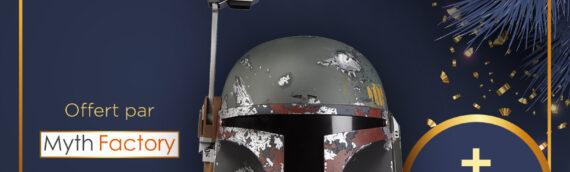 Calendrier de l'avent Star Wars de MINTINBOX – Jour 10 : Casque Black Series de Boba Fett et un bon d'achat de 15€ offert par la boutique Myth Factory