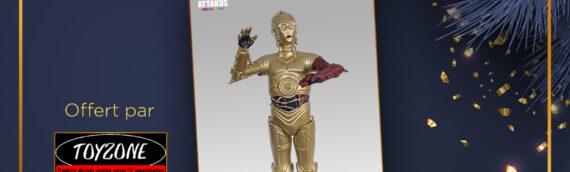 Calendrier de l'avent Star Wars de MINTINBOX – Jour 11 : La statuette Attakus Elite Series de C3PO offerte par la boutique Toyzone