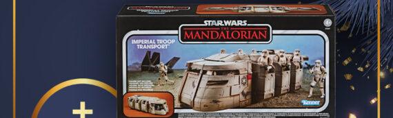 Calendrier de l'avent Star Wars de MINTINBOX – Jour 15 : Le transport de troupe Impérial Hasbro et un bon d'achat de 15€ offerts par la boutique Myth Factory