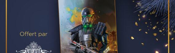 """Calendrier de l'avent Star Wars de MINTINBOX – Jour 16 : Une impression sur plaque Alu """"Deathtrooper"""" offerte par Kosept"""