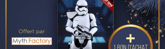 Calendrier de l'avent Star Wars de MINTINBOX – Jour 22: Une Hot Toys du Stormtrooper First Order et un bon d'achat offerts par la boutique Myth Factory