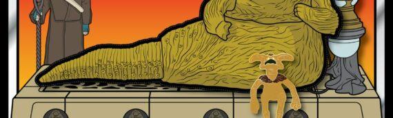 Leftcoast Graphics : Un set Patch/Pins Jabba & Salacious