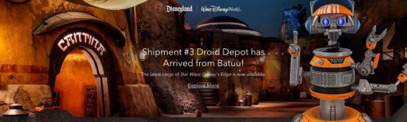 Disney Star Wars Galaxy Edge – Du nouveau disponible en ligne sur ShopDisney