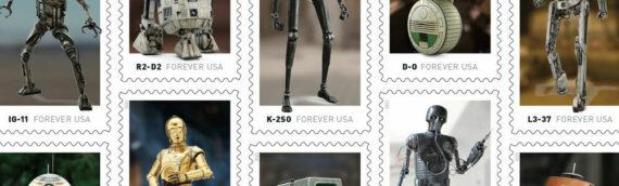 Une série de timbres spéciale Star Wars & Droids aux Etats-Unis