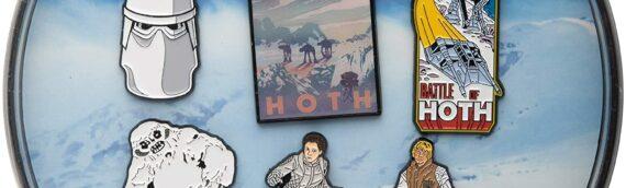 "Amazon – Adventure, Across of the galaxy : Le set exclusif de 6 pin's ""HOTH"" disponible"