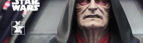 """Gentle Giant : Le mini buste de Palpatine issu de """"l'Ascension de Skywalker"""""""