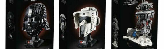 LEGO Star Wars – Les visuels officiels des sets  75304 Darth Vader, 75305 Scout Trooper et 75306 Imperial Probe Droid