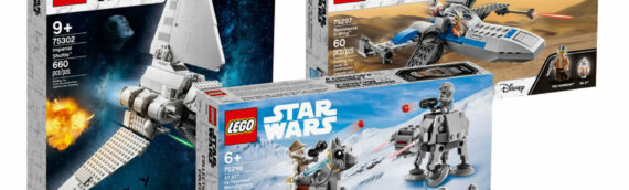 LEGO Star Wars – Le Shuttle Tydirum, le X-wing de Poe Dameron et l'AT-AT VS Tauntaun est disponible