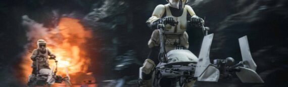"""HOT TOYS – Le """"Scout Trooper and Speeder Bike from The Mandalorian"""" arrive dans quelques jours"""