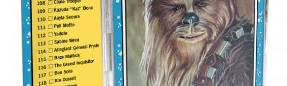 Topps Star wars living set : Zed et Chewie sont les deux nouvelles cartes de la semaine.