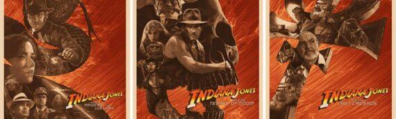 ACME Archives :  Des artworks sur les 3 premiers films d'Indiana Jones par Devin Schoeffler