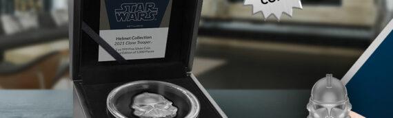 New Zealand Mint : Un coin d'un casque de Clonetrooper